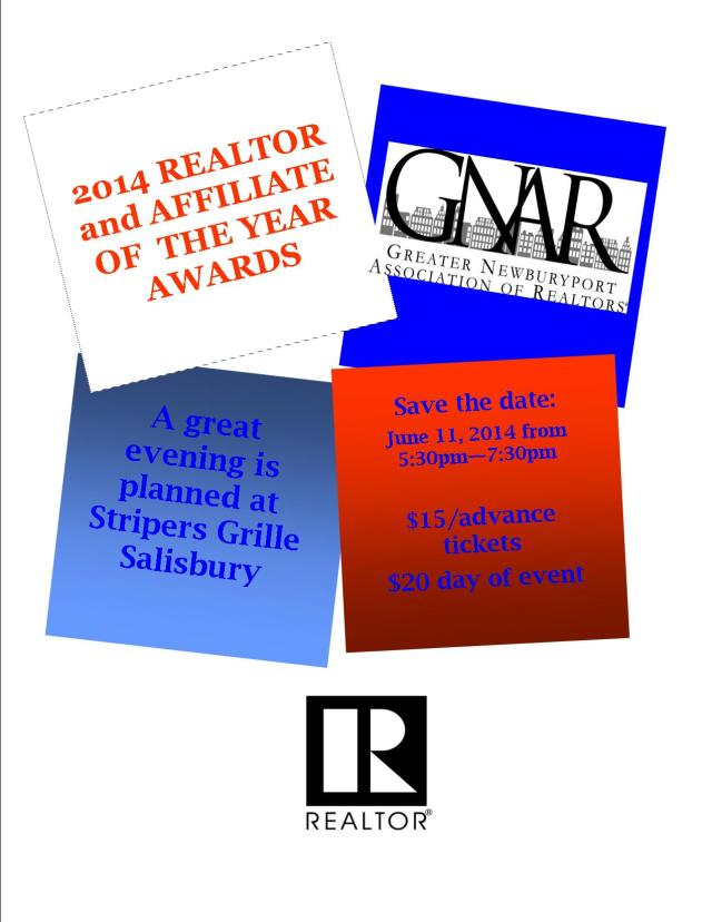 Member news may 14 greater newburyport association of realtors save the date roty 2014 red white and blue stopboris Gallery