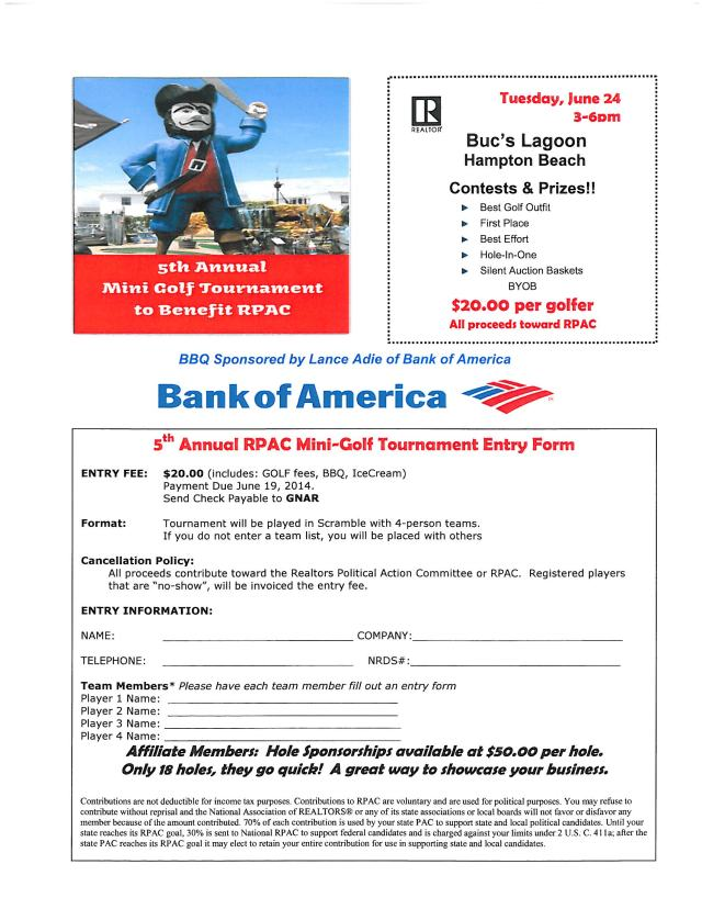 GOLF REGISTRATION 2014