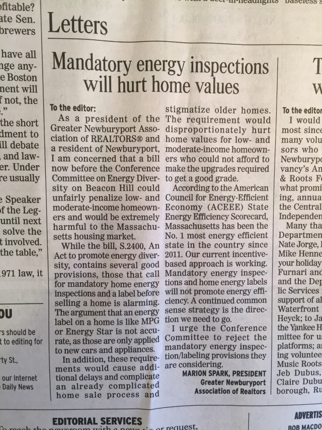 energy scoring letter to the editor